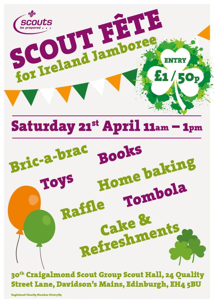 Scout Fete for Ireland Jamboree